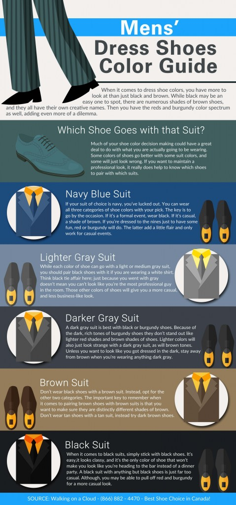 781ff55a5bd Mens' Dress Shoes Color Guide [infographic] -