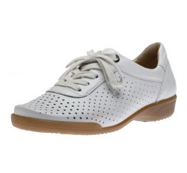 Alexis White Lace-Up Sneaker
