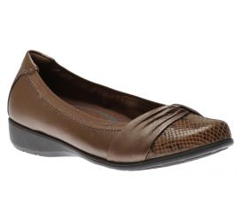 Andrea Bronze Leather Slip-On Flat