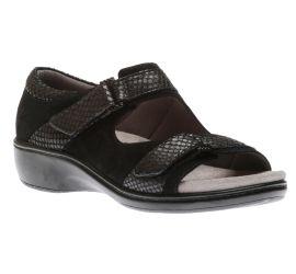 Duxbury Two Strap Black Sandal