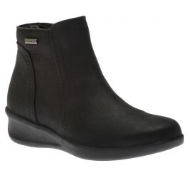 Fairlee Black Leather Ankle Boot