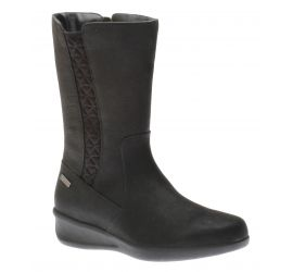 Fairlee Black Leather Mid-Calf Boot