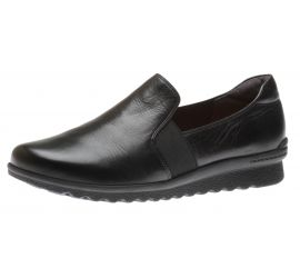 Josie Slipon Black Leather Flats