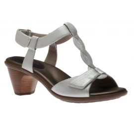 Medici T-Strap Pearl Leather Open-Toe Sandal