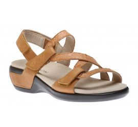 Power Comfort Strap Tan Leather Sandal