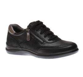 Power Comfort Tie Lace-Up Black Sneaker