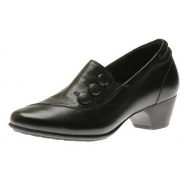 Phyllis Black Slip-On Low Heel