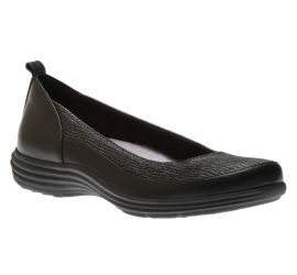 Quinn Black Leather Ballet Flat
