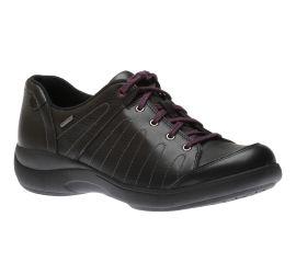 Rev Stridarc Waterproof Savor Black Leather Lace-Up Sneaker