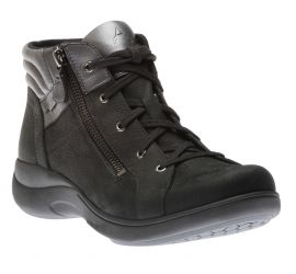 Rev Stridarc Waterproof Black Leather Ankle Boot