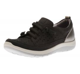 Wembly Lace-Up Black Sneaker