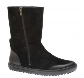 Fossholl Suede Leather Black Winter Boot