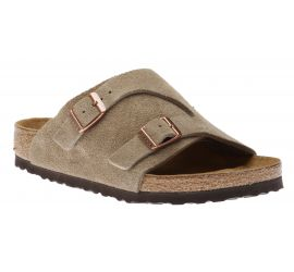 Zurich Suede Leather Soft Footbed Taupe