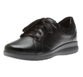 Un Adorn Lace Black Leather Sneaker