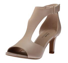 Alice Flame Blush Leather Heeled Sandal