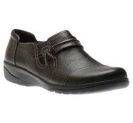 Cheyn Madi Black Leather Slip-On