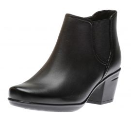 Emslie Noreen Black Leather Ankle Boot