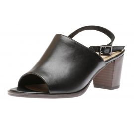 Kaylin60 Sling Black Leather Heeled Sandal