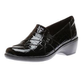 May Marigold Black Croco Slip-On Loafer
