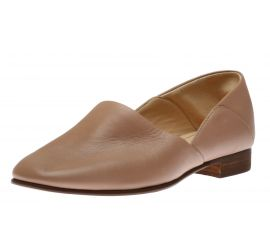 Pure Tone Nude Leather Loafer