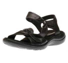Saylie Moon Black Leather Sandal
