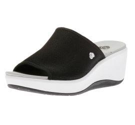 Step Cali Bay Black Slide Platform Wedge Sandal