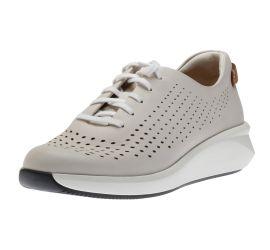 Un Rio Tie White Leather Sneaker