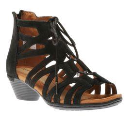 Laurel Black Caged Sandal