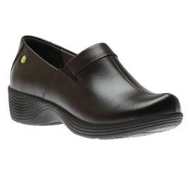 Coral Black Leather Clog