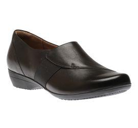 Fae Black Burnished Nubuck Leather Slip-On Shoe