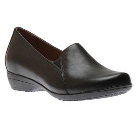 Farah Black Leather Loafer