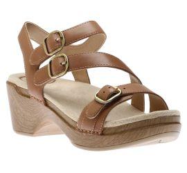 Sacha Tan Leather Sandal