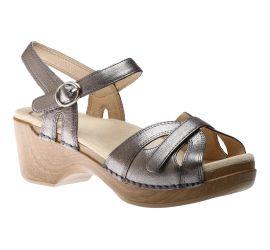 Season Graphite Leather Sandal