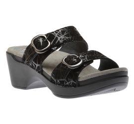 Sophie Black Drizzle Suede Leather Sandal