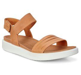 Flowt Lion Leather Flat Contrast Sole Sandal
