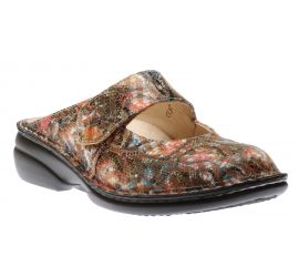 Stanford Multicolour Leather Clog