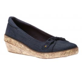 Lily Wedge Navy