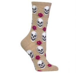 Hotsox Skull And Roses Hemp