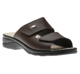 Mens Slide Brown Gel
