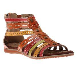 Anjula Orange Gladiator Sandal