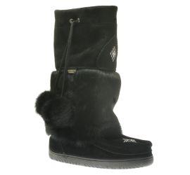 Waterproof Snowy Owl Mukluk Black Winter Boot