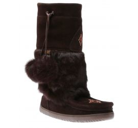Waterproof Snowy Owl Mukluk Dark Brown Winter Boot