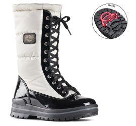 Glamour White/Black Winter Boot