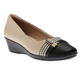 Dress Shoe Beige/Blk