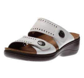 Maisy 2 Band White Slide Sandal