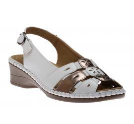 Sandal White Pewter