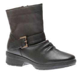 Gripper Black Leather Moto Boot