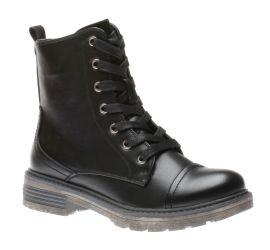 Leona Black Combat Boot