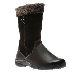 Yanni Black Mid-Calf Winter Boot