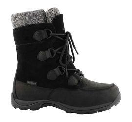 Aspen Black Waterproof Lace-Up Winter Boot